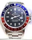 Rolex GMT-Master Pepsi Steel 16700 Blue Red 40mm Date Watch SWISS Only Dial