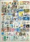 BELGIUM  COLLECTION2 ALBUM PAGES WITH 200 DIFFERENT MODERN USED STAMPS