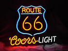 Neon Signs ROUTE 66 COORS LIGHT  Beer Bar Pub Store Party Homeroom Decor 17x14