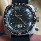 Ca. 1970 Ruhla Military Style Simple Flyback Chronograf Cal. 24-35 Serviced