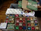 68 Piece Lot Vintage Shiny Brite  Modern Blown Glass Christmas Ball Ornaments