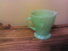 ANCHOR HOCKING JADEITE SWIRL PERFECT LITTLE CREAMER-HARD TO FIND