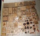 MASSIVE Lot of 95 vintage  rare Black wood rubber stamps and MORE