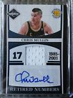 CHRIS MULLIN 2011-12 LIMITED RETIRED NUMBERS AUTO JERSEY 49 AUTOGRAPH WARRIORS
