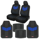 Car Seat Covers Set Sideless Pu Leather Heavy Duty Rubber Floor Mats Two Tone