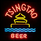 Neon Signs Gift Tsingtao Beer Light Beer Bar Pub Store Party Room Decor 19x15