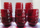 Vintage 6 Anchor Hocking Fire King Royal Ruby Red Bubble 4 1/2