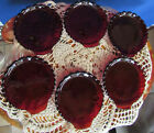 Vtg 6 Anchor Hocking Fire King Royal Ruby Red Shell Shaped Snack Dessert Dishes