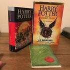 Harry Potter J K Rowling 3 Signed Book Lot Each with Hologram