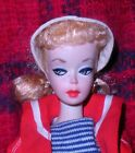 Beautiful Vintage 1959  2 Blonde Pink Silhouette Dressed Box Ponytail Barbie TM