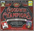 2018 Goodwin Champions Upper Deck Factory Sealed Hobby Box