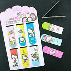 6PC Cute Hello Kitty Magnetic Bookmarks Paper Clip Office School Stationery Gift