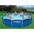Intex 12 x 30 Metal Frame Above Ground Swimming Pool with Filter