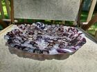 Handmade Millefiori Fused Glass Free Form Edge Art Candy Dish Bowl Beckwith