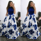 Womens Floral Maxi Long Dress Ladies Summer Evening Party Ball Gown Prom Dresses