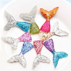 6x Mermaid Tail Flatback Resin Cabochon For Phone Decor Scrapbook Embellishme T