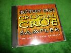 MOTLEY CRUE cd CRUCIAL CRUE SAMPLER 17 tracks free US shipping