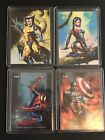 1996 Marvel Masterpieces Double Impact Lot Of 4 Cards NM M RARE