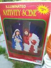 Grand Venture Blow Mold NATIVITY SCENE 28 figures Christmas Vintage in Box