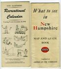 1940 AMOCO What to See in New Hampshire Map & Guide