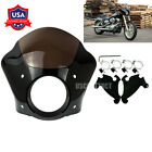 Headlight Gauntlet Fairing w Trigger Lock Mount Fit For Harley Sportster 86 16