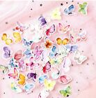 Kawaii Stickers Lot 46 Flakes Scrapbook Cute Pretty Colorful Butterfly