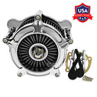 Chrome Air Cleaner Intake Filter Fit For Harley Touring Trike 00 07 Softail 15