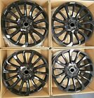 22 AUTOBIOGRAPHY STYLE FULL BLACK WHEELS RIMS FITS LAND ROVER DISCOVERY LR3 LR4