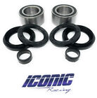 Front Wheel Bearings and Seals Fits Honda 01-04 TRX500 Fourtrax Foreman Rubicon