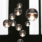 Cluster Pendant Modern G4 LED Bubble Crystal Glass Ball Staircase Ceiling Light