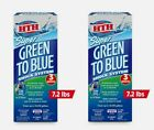 2 HTH Green to Blue SUPER SHOCK SYSTEM Pool Kill Bacteria Algae 24hr 7 lb 52009