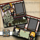 HARRY POTTER 2 premade scrapbook pages paper piecing layout BY DIGISCRAP A0215
