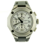 BAUME & MERCIER AUTOMATIC 65541 RIVIERA WHITE DIAL CHRONOGRAPH STEEL MENS WATCH