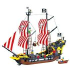 Custom LEGO-Compatible Black Seas Barracuda Pirate Ship Ships from USA