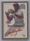 DAVE CONCEPCION 2000 FLEER GREATS OF THE GAME RED INK AUTO REDS