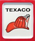 Texaco ~ Fire Chief Hat ~ Embossed Tin Thermometer
