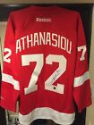 DETROIT RED WINGS SIGNED JERSEY OF #72 ANDREAS ATHANASIOU!!! WITH COA!!!