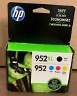 4 PACK HP GENUINE 952XL Black  952 Color Ink OFFICEJET PRO 8710 new in box