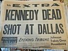 San Diego newspaper  KENNEDY DEAD Nov 22, 1963 President shot at Dallas historic