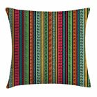 East Urban Home Hippie Indian Native Borders Square Pillow Cover