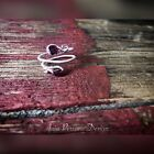 Rose Gold Filled Garnet Wrap Ring Wire Wrapped Adjustable