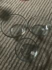 Anchor Clear Glass Nesting Mixing Bowls Set Of 3- Very Nice Condition
