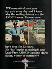 Vintage advertising print Gas Oil American Oil AMOCO Security Officer Wilson 66
