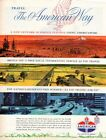 Vintage advertising print Gas Oil American Oil AMOCO Travel The American Way 61