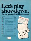 Vintage advertising print Gas Oil American Oil AMOCO Let's Play Showdown credit