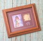Degrazia Drummer Boy Framed Picture And Embossed Paper Drum Native American Art