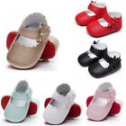 Newborn Infant Girls Crib Shoes Baby Kids Bowknot Soft Sole Prewalker Sneakers