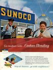 Vintage advertising print Gas Oil SUNOCO Service Station Boy Space suit Gun 1962