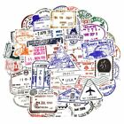 50 Post Stamp Stickers Bomb Pack Lot Vintage Retro Travel Luggage Letter Decals