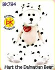 SKANSEN BEANIE KIDS HART THE DALMATIAN BEAR MINT WITH MINT TAG PREMIER EXCLUSIVE